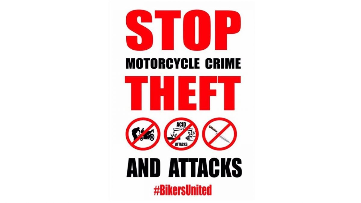 London Motorcycle Theft Protest Sept 2017